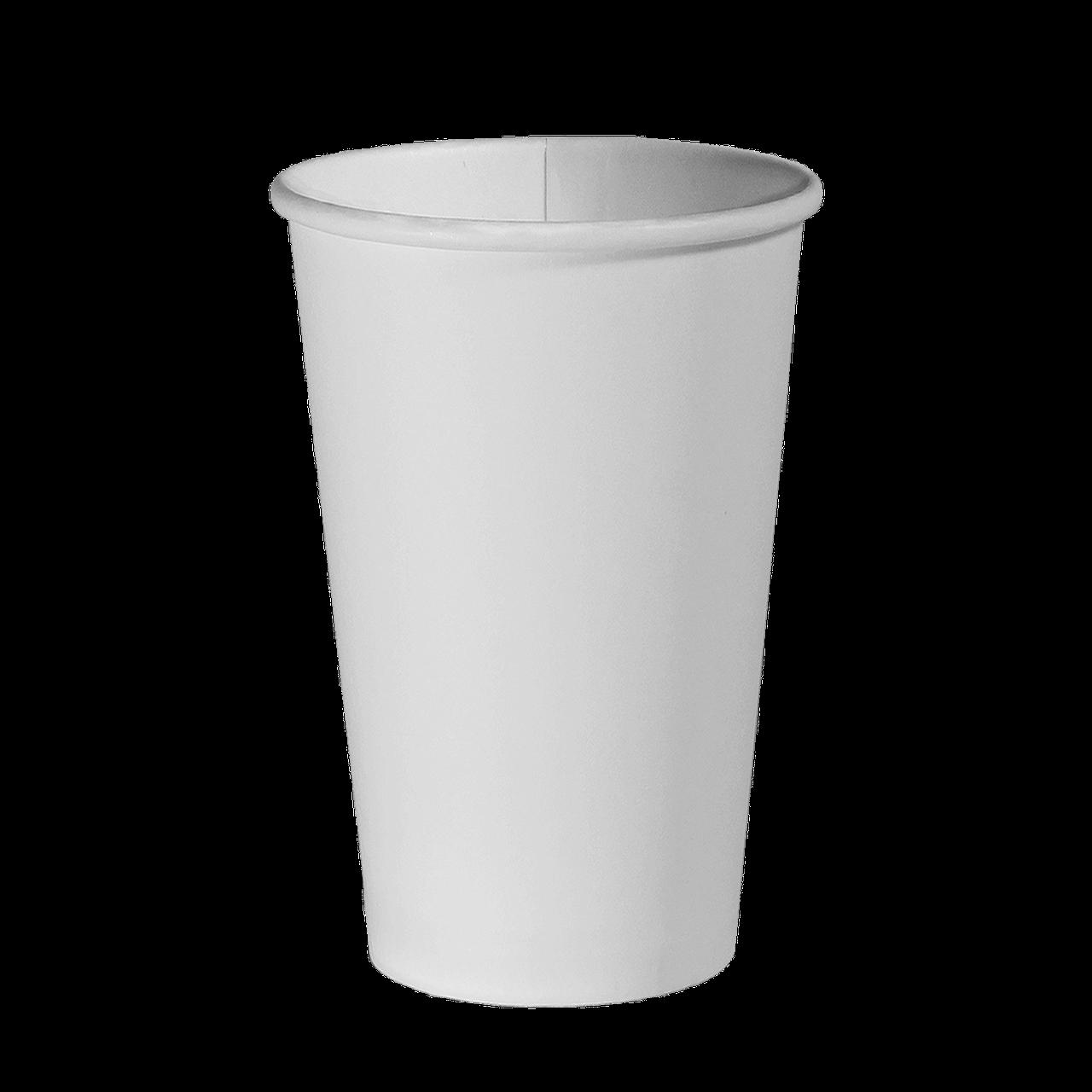 Стакан паперовий 400 мл. 50шт.уп. (20/1000) Білий