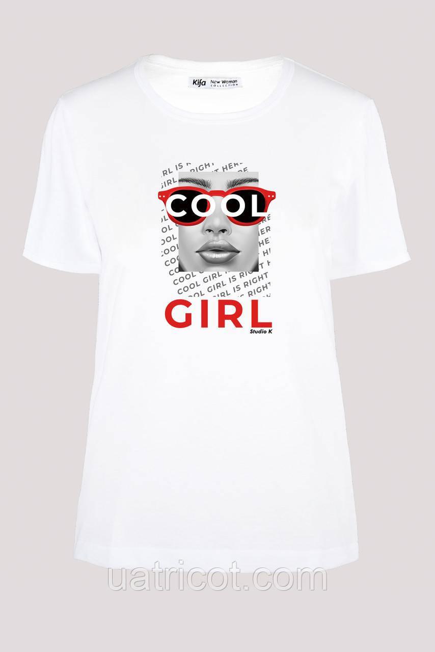 Футболка женская KIFA ФЖ-017/30 COOL GIRL белая