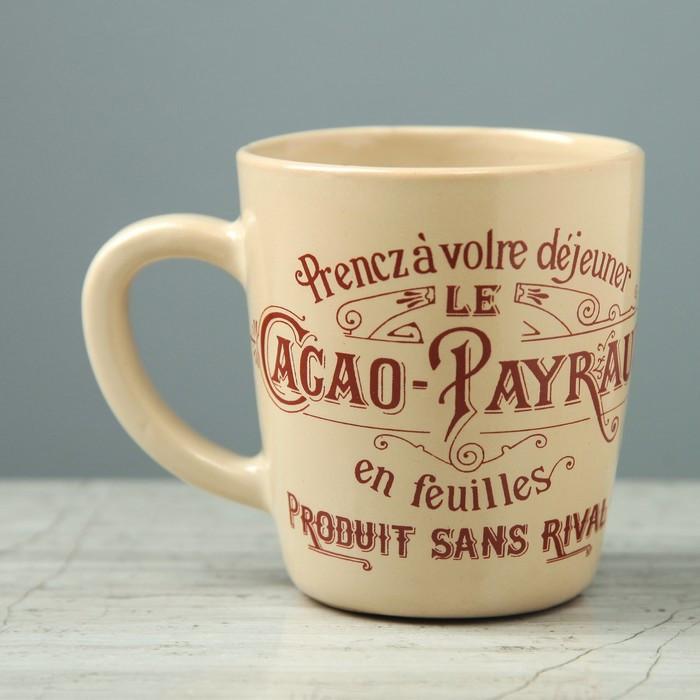 """Кружка Прованс """"Le Cacao Payraud"""", малая, 0.25 л, цвет микс"""