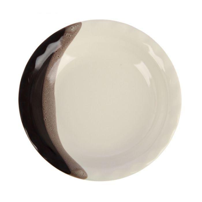 Тарелка диаметр 17,5 см шоколад, глянцевый