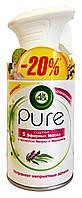 Освежитель воздуха Air Wick Pure 5 Эфирных Масел с ароматом Пачули и Эвкалипта - 250 мл. - 20%