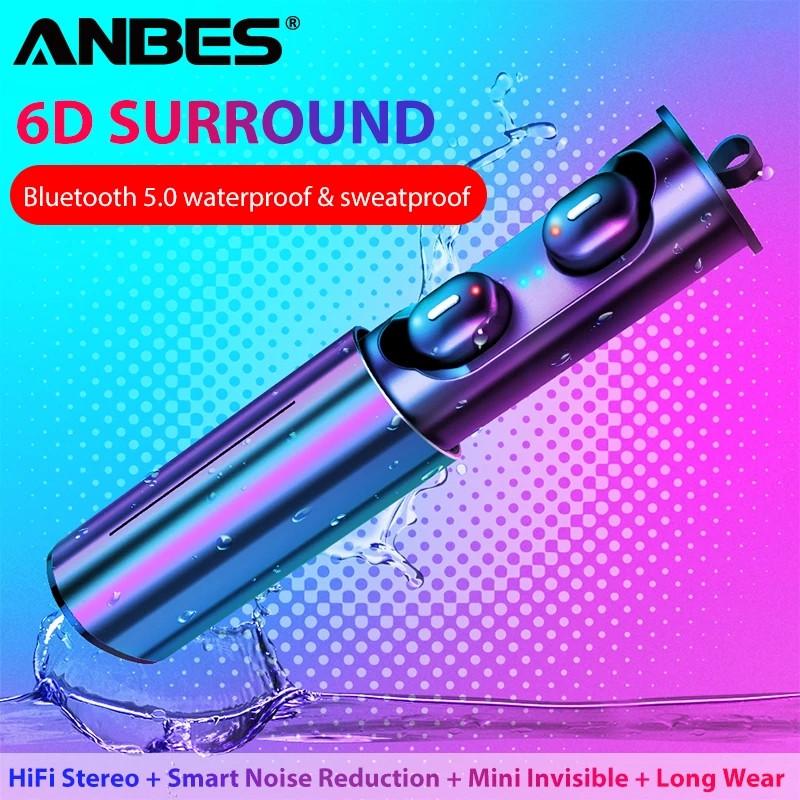 ANBES T1 TWS Полностью беспроводные раздельные наушники Bluetooth 5.0 гарнитура-наушники