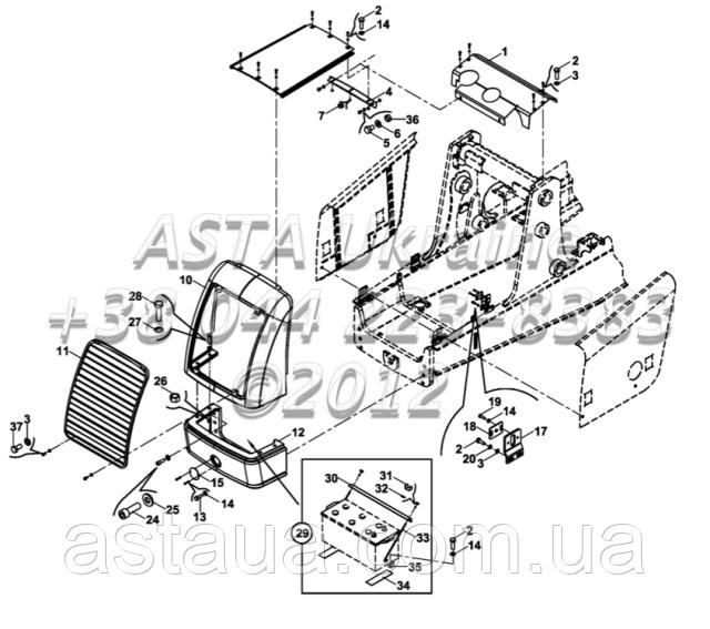 Кузовні запчастини, капот, бампер, радіатор на Hidromek 102B