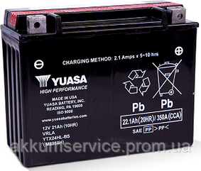 Аккумулятор мото Yuasa High Performance MF 22.1 AH/350А YTX24HL-BS