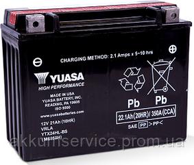 Акумулятор мото Yuasa High Performance MF 22.1 AH/350А YTX24HL-BS