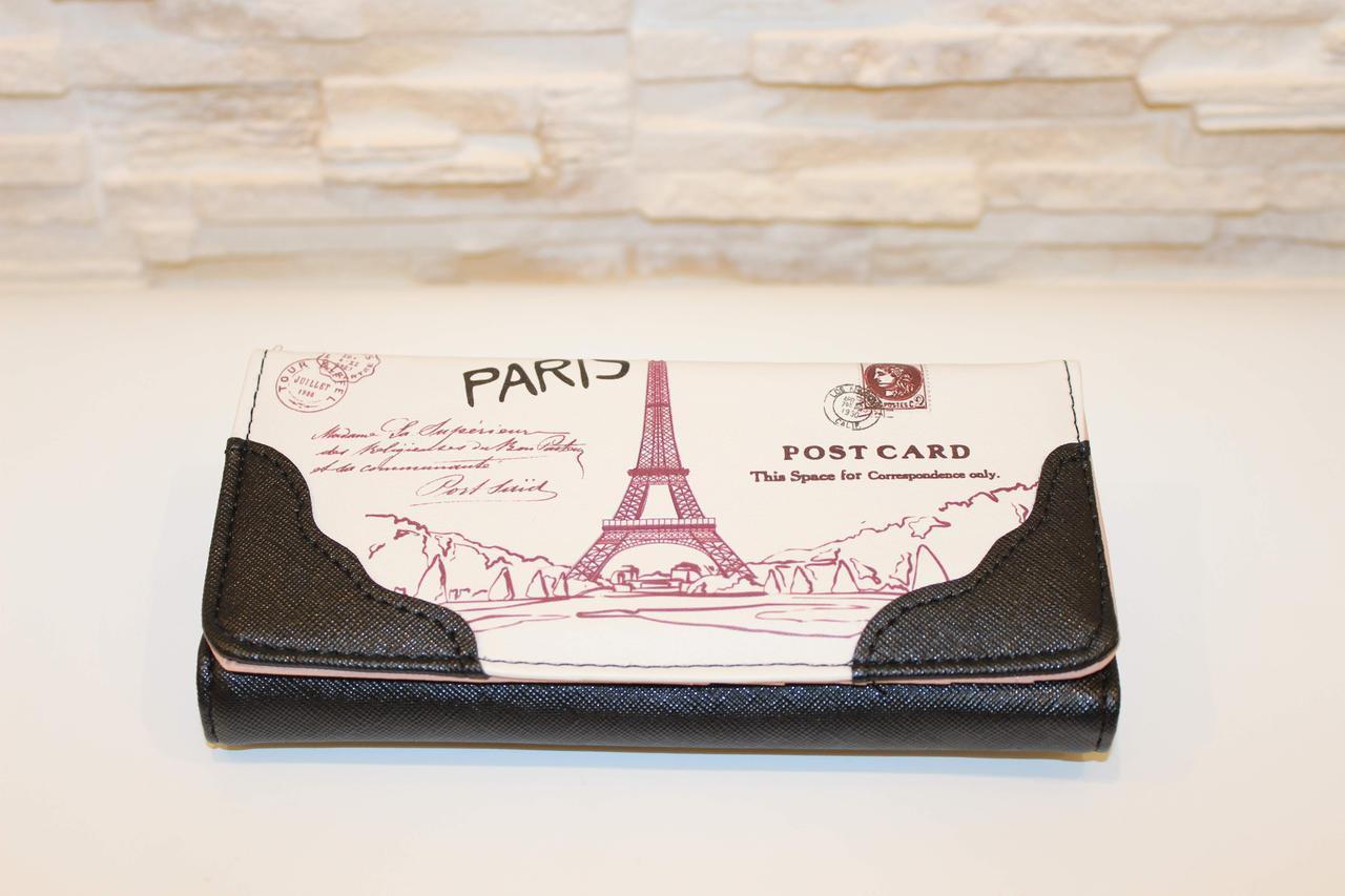 Гаманець жіночий Париж чорний код 286