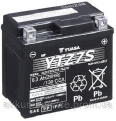 Аккумулятор мото Yuasa High Performance MF 6.3 AH/130А YTZ7S(WC)
