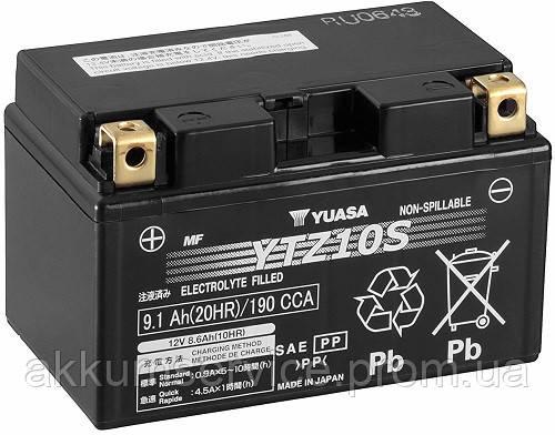 Акумулятор мото Yuasa High Performance MF 9.1 AH/190А YTZ10S(WC)