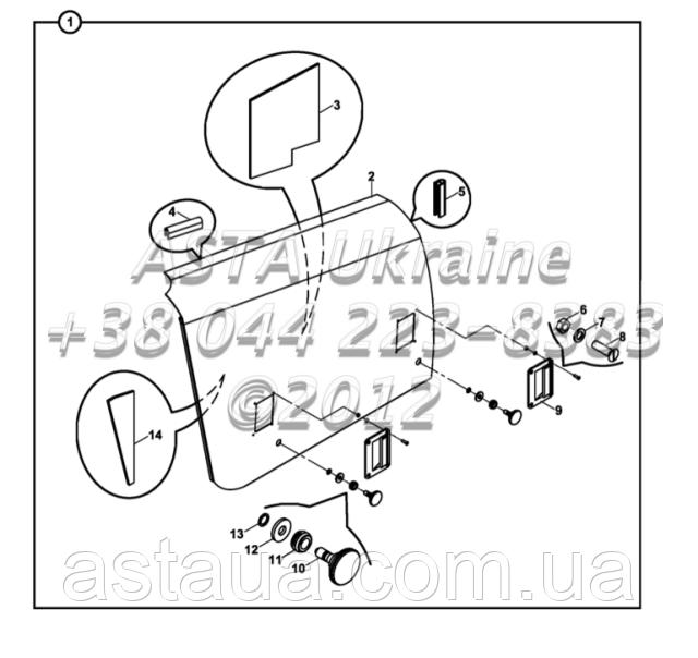 Права панель відсіку двигуна на Hidromek 102B