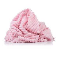 Отрез плюш Minky Stripes нежно-розовый 70х160 см
