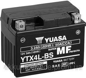 Акумулятор мото Yuasa MF VRLA 3 AH/ 50А YTX4L-BS(CP)
