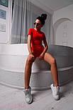 Женское повседневное боди с коротким рукавом r218214, фото 2