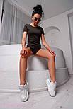 Женское повседневное боди с коротким рукавом r218214, фото 4