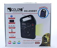 Радиоприемник GOLON RX-499 BT bluetooth с солнечное панелью, фото 1
