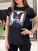 Свободная белая женская футболка с рисунком 3317191, фото 1