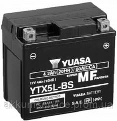 Акумулятор мото Yuasa MF VRLA 4 AH/ 80А YTX5L-BS(CP)