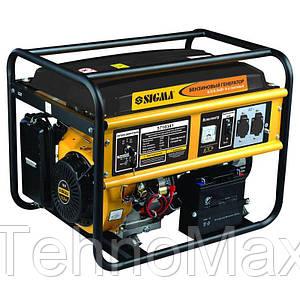 Электростанция бензин 6.0/6.5кВт 4-х тактный электрозапуск  Sigma 5710341