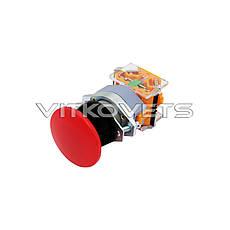 Кнопка аварийной остановки LA39-11M без фиксатора (красная), фото 2