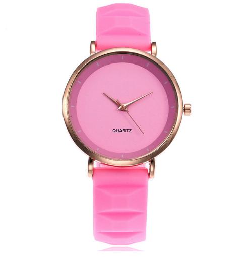 Модные женские часы с силиконовым ремешком код 441