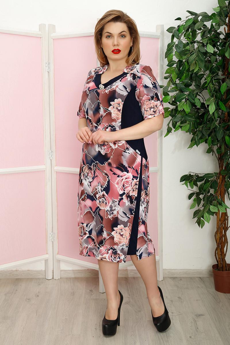 Платье Баффи к/р мрамор