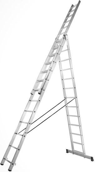 Алюминиевая трехсекционная усиленная лестница Stark 3*12 SVHR3x12pro