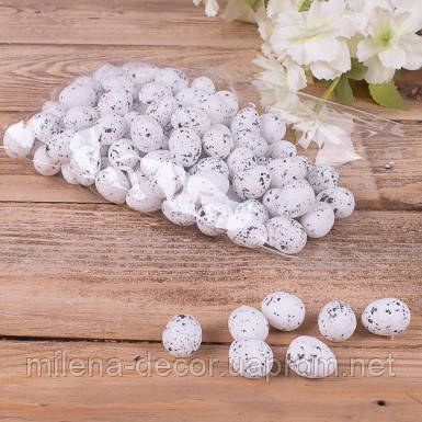 """Яйца декоративные """"супер-мини""""  белые  (2 см.)"""