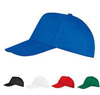 Кепки пятиклинки под нанесение логотипов, 4 цвета, 100% хлопок плотностью від 180 г/м2