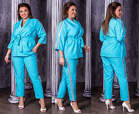 Женский костюм: брюки и пиджак в расцветках, р-р 50-56. Ш-11-1-0419