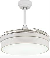 Люстра вентилятор на пульте CFL-102W белая