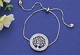 Браслет женский серебристый с подвеской Древо жизни код 1513, фото 3