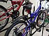 "Велосипед 2-х кол. Azimut Blackmount G-FR/D 24"" черно-синий Shimano, противоударные диски, фото 5"
