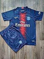 Детская футбольная форма ПСЖ 2018-2019 основная синяя, фото 1