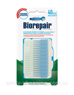 Интердентальная силиконовая зубочистка Biorepair, размер S, 40 шт.
