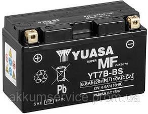 Акумулятор мото Yuasa MF VRLA 6.5 AH/ 110А YT7B-BS(CP)