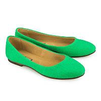 Зеленые балетки женские - купить балетки от производителя оптом Украина 5012-10green