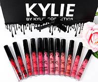 Набор матовых жидких помад Kylie Matte Lipstick 12 штук