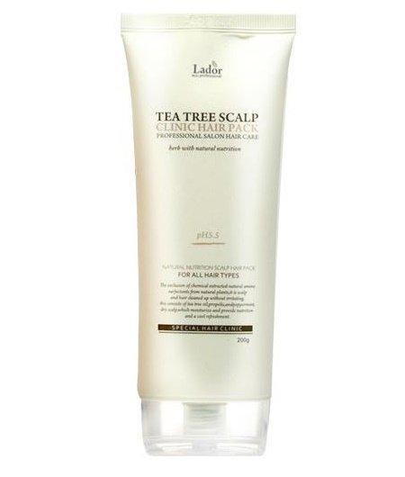 Маска пилинг для волос и кожи головы с чайным деревом La'dor Tea tree scalp hair pack 200 мл
