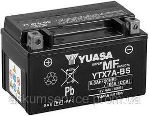 Аккумулятор мото Yuasa MF VRLA 6 AH/ 105А YTX7A-BS(CP)