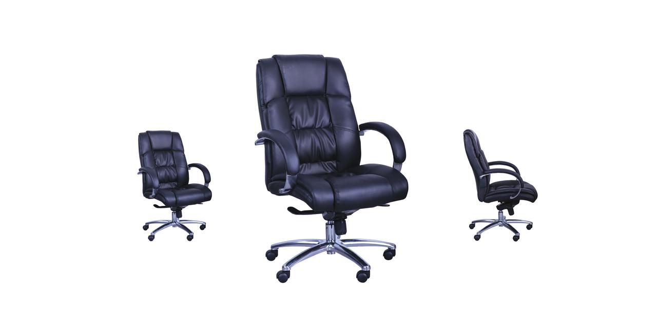 Кресло Монако НВ кожзам черный