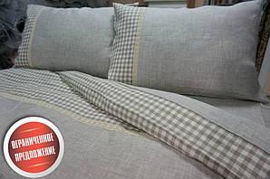 Комплект постельного белья  Двуспальный Евро , лен  Дуэт.