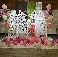 """Свадебная резная ширма """"Ромашки"""", ширма на детский праздник, фотозона на детский праздник, фото 1"""