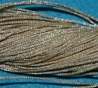Капроновый шнур для плетения с люрексом молочный 1692 Моток 95 м