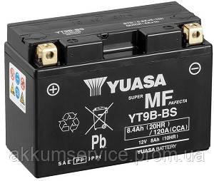 Аккумулятор мото Yuasa MF VRLA 8 AH/ 120А YT9B-BS(CP)