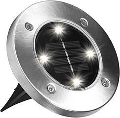 Уличный светильник на солнечной батарее Solar Disk Lights 5050 Универсальная подсветка Light at Garden