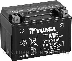 Аккумулятор мото Yuasa MF VRLA 8 AH/ 135А YTX9-BS(CP)