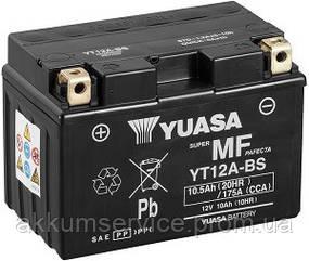 Акумулятор мото Yuasa MF VRLA 10 AH/ 175А YT12A-BS(CP)