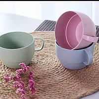 Простая питьевая чашка для любителей завтрака из соломы с молоком и кофе - 1TopShop