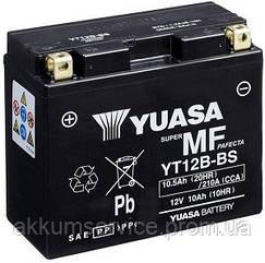 Акумулятор мото Yuasa MF VRLA 10.5 AH/ 210А YT12B-BS(CP)