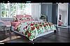 Комплект постельного белья  ранфорс BalakHome евро размер Маковый букет