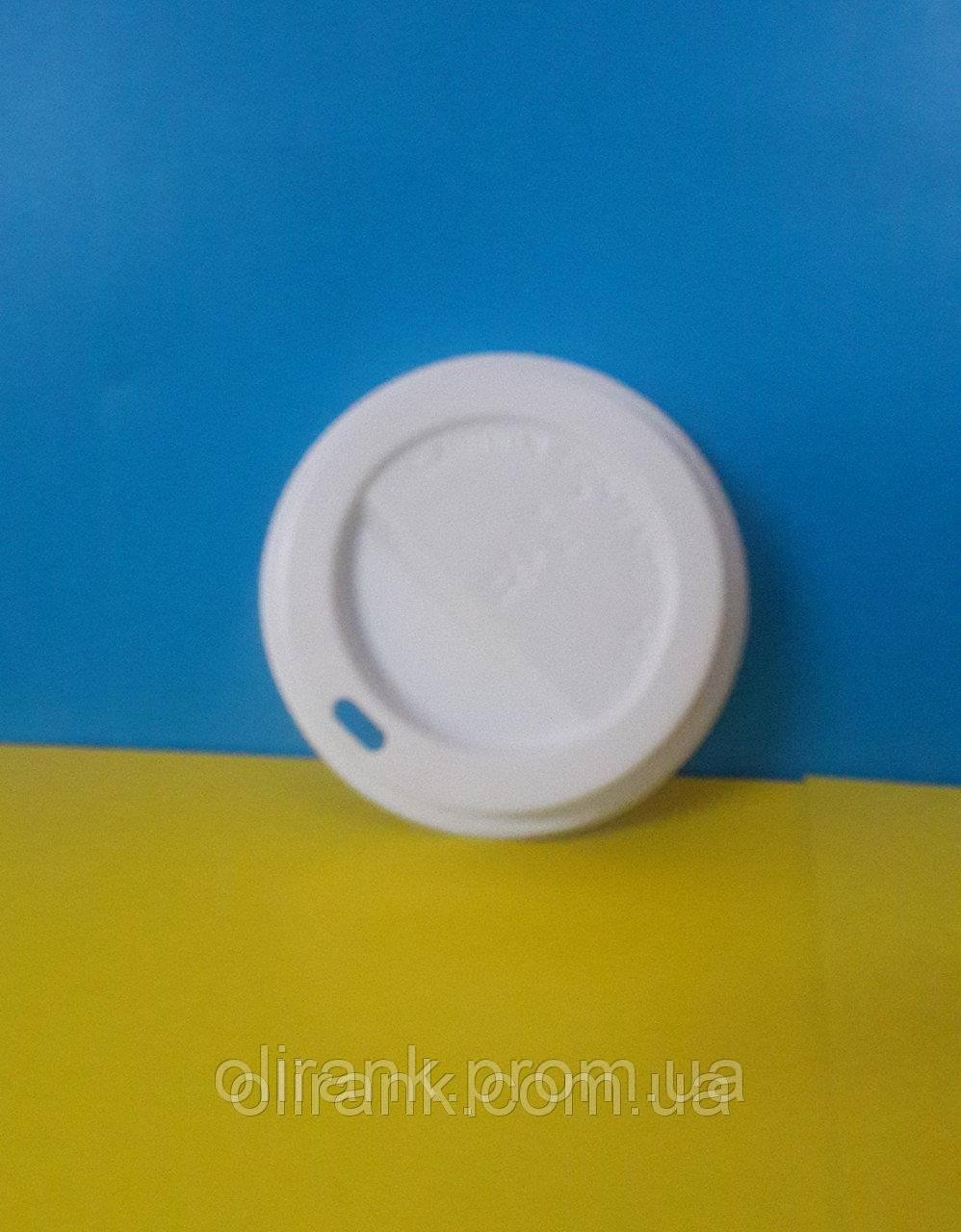 Крышка для бумажного стакана КВ - 93 белая 80шт уп  25уп/ящ (для 500 ст)